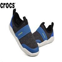 【秒��r】CROCS/卡洛�Y新款激浪束�Щ焐�童鞋�W布透�庑蓍e鞋|205363 激浪束�Щ焐�童
