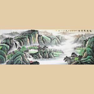 实力派画家向玉荣《富贵万年春》桂林书画家协会会员2-8W1127
