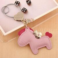 小马汽车钥匙扣女 韩版钥匙链挂件可爱钥匙圈男环 创意书包挂饰品