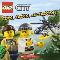 乐高城市 警察,鳄鱼,骗子! 英文原版 Lego City Cops, Crocs 学乐童书