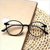 男女潮款复古眼镜框女超轻TR90眼镜男大脸配蓝光平光镜