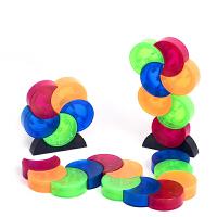 磁性月亮磁力片积木儿童桌面玩具 收纳箱82pcs