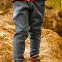 【2.5折价:68元】探路者抓绒裤 秋冬户外男童长裤保暖舒适运动裤QAMG93140