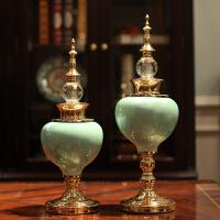创意欧式摆件家居装饰品工艺品桌面陶瓷 客厅玄关电视柜酒柜摆设