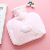 可爱卡通毛绒注水热水袋女学生创意随身暖手暖脚可拆橡胶��宝宝