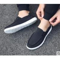 男鞋布鞋男帆布鞋男士布鞋一�_蹬�{�工作休�e�腥�涡�