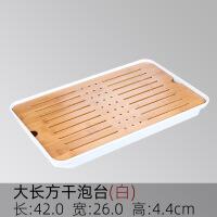 简易茶具储水茶盘家用简约圆形竹制日式功夫茶海托盘干泡茶台小型