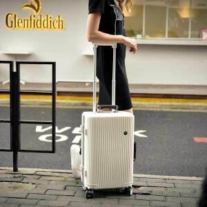 【支持礼品卡】USO复古铝框拉杆箱万向轮英伦风欧美旅行箱8178-29寸免费托运行李箱赠送箱套+贴纸