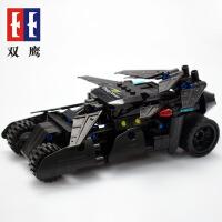 双鹰回力积木车狂野战车拼装模型可合体益智DIY儿童玩具车大轮越野车