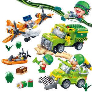 【当当自营】邦宝益智拼装小颗粒积木儿童玩具正版炮炮兵坏人逃脱BB6226