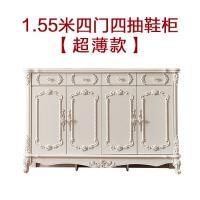 20190403023946781欧式鞋柜实木 白色烤漆简约现代门厅柜多功能储物柜 门口鞋柜 组装