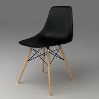 亿家达 家用电脑椅子 实木椅子休闲椅餐椅人体工学 职员椅办公椅