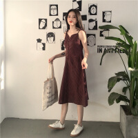 夏季女�b新款�赓|�凸鸥褡又虚L裙子�W生�闻趴鄣��V�I打底�B衣裙