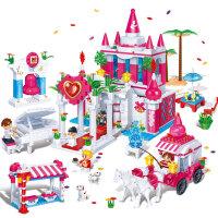 【当当自营】邦宝益智拼装积木小颗粒儿童女孩玩具建筑礼物 幸福见证6108