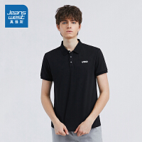 [5折秒杀价:28.7元,双十二提前购,仅限12.9-11]真维斯男装 2019夏装新款 休闲POLO领净色短袖T恤