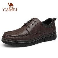 camel骆驼男鞋 秋季新品生活休闲皮鞋圆头商务白领通勤防滑牛皮鞋