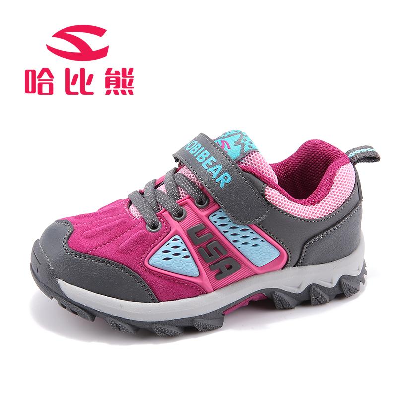 哈比熊秋新款男女童鞋儿童户外休闲运动鞋韩版潮