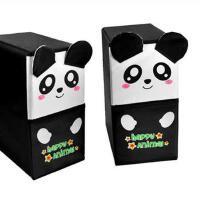 开馨宝可爱动物双层双抽屉储物柜/收纳柜/整理柜-白色抽屉熊猫