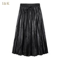 【3折到手价:90元】爱客中长半身裙百褶裙KY741Q060C