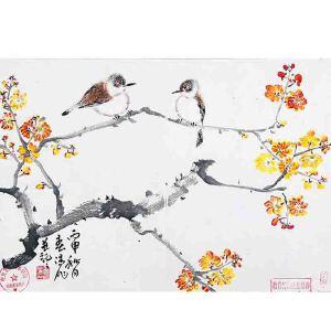 中国书法家协会会员 霍春阳《花鸟》JXFT716