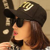 棒球帽女网红同款时尚字母防晒嘻哈鸭舌帽 韩版潮运动遮阳女士帽子户外运动新品