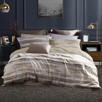 LOVO家纺 全棉60支北欧纯棉四件套床上用品高支套件1.5/1.8m床 安卡尔