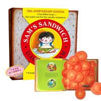 【中商原版】山姆的三明治 英文原版Sam's Sandwich 精装 趣味翻翻书 韵文猜谜游戏书