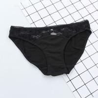 夏季简约蕾丝蝴蝶结舒适莫代尔棉内裤低腰少女士透气学生三角裤薄