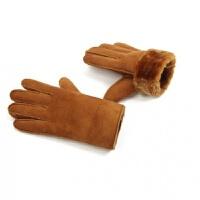 加厚保暖冬季户外骑行防风保暖麂皮绒男士加绒加厚仿皮毛一体手套 均码