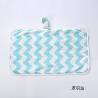 婴儿换尿布垫便携式隔尿垫外出折叠防水可洗换尿片垫夏季透气尿垫 65x35cm