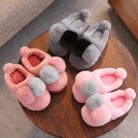 儿童棉拖鞋冬软底防滑毛拖男女童宝宝一家三口居家保暖卡通棉鞋