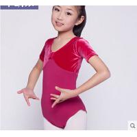 女童体操服芭蕾舞裙短袖连体考级服幼儿演出服 儿童舞蹈服装练功服