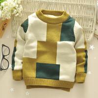男童加绒毛衣装儿童套头加厚针织衫宝宝羊绒衫外套婴儿线衣童装