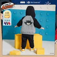 【2件3折价:119.4元】DC超人IP迷你巴拉巴拉婴儿套装2020冬新款男宝宝全棉连帽套装拜年服