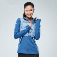 运动外套女 新款长袖防风保暖连帽跑步上衣夹克