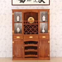 包邮简迪红木家具实木酒柜家用花梨木新中式客厅酒柜展示柜多功能厅柜储物柜