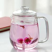 550ml玻璃壶三件式泡茶壶花茶壶过滤内胆玻璃壶茶壶过滤泡茶壶玻璃加厚加热花茶壶耐高温煮水