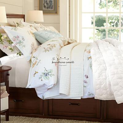 美式全棉印花春秋床品套件纯棉贡缎床上四件套1.8双人被套床单 图上四件套 床单同被套花色