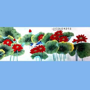 北京著名工笔画画家,北京市美协会员凌雪(荷香万里)