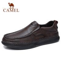 camel骆驼男鞋 2018秋季新品大休闲系列牛皮鞋日常时尚套脚商务乐福鞋