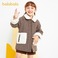 【�_�W季 折后�B券�A估�r:153.9】巴拉巴拉童�b�和�外套女童羊毛呢秋冬小童����外衣中�L款