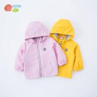 贝贝怡男女童保暖外套新款洋气休闲防风雨衣风衣上衣191S2016