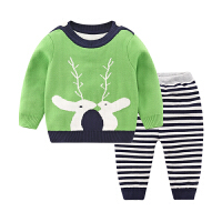 婴儿毛衣男女童棉线衣开衫宝宝针织衫春装秋季外出衣服外套装 100cm(100cm 建议18-30个月)
