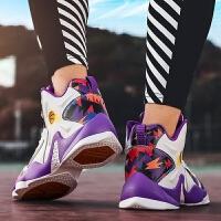 时尚新款春夏季篮球鞋男士鸳鸯嘻哈学生高帮休闲跑步运动鞋子男