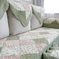 四季全棉沙发垫布艺家用纯棉田园三人座垫子通用碎花巾套罩防滑冬