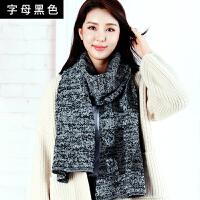 围巾女冬季百搭冬季韩版纯色毛线围脖格子学生加厚流苏仿羊绒披肩