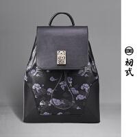 初�q新款中国风女背包旅游时尚潮学生小书包休闲双肩包