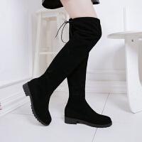 加肥大筒围女靴胖mm粗腿大码41秋冬季43弹力过膝长靴子粗筒靴