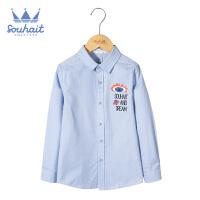 【3件3折:77元】水孩儿souhait童装秋装新款男童时尚衬衫AMQ0715522