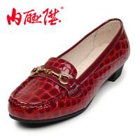 内联升2016年新款女鞋单鞋女士皮鞋时尚休闲老北京布鞋 4672C